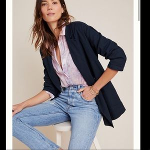 Anthropologie double breasted baby blazer Amadi M